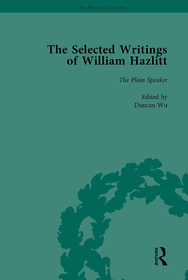 The Selected Writings of William Hazlitt Vol 8: 1st Edition (Hardback) book cover