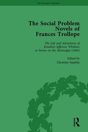 The Social Problem Novels of Frances Trollope Vol 1: 1st Edition (Hardback) book cover