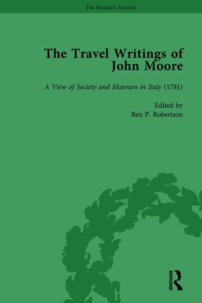 The Travel Writings of John Moore Vol 2: 1st Edition (Hardback) book cover