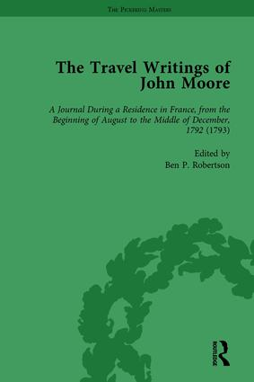 The Travel Writings of John Moore Vol 3: 1st Edition (Hardback) book cover