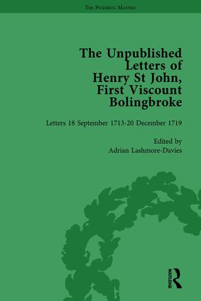 The Unpublished Letters of Henry St John, First Viscount Bolingbroke Vol 4: 1st Edition (Hardback) book cover