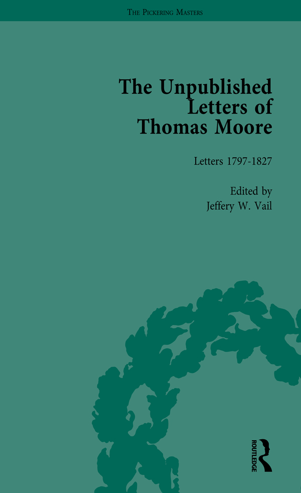 The Unpublished Letters of Thomas Moore Vol 1: 1st Edition (Hardback) book cover