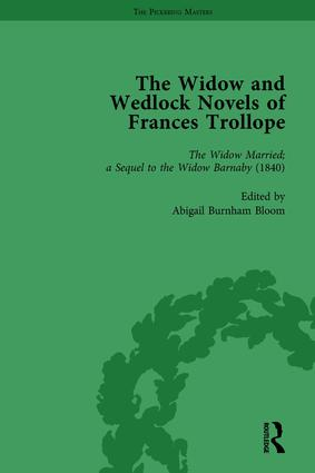 The Widow and Wedlock Novels of Frances Trollope Vol 2: 1st Edition (Hardback) book cover