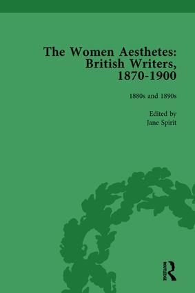 The Women Aesthetes vol 2: British Writers, 1870–1900, 1st Edition (Hardback) book cover