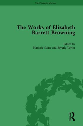The Works of Elizabeth Barrett Browning Vol 1: 1st Edition (Hardback) book cover