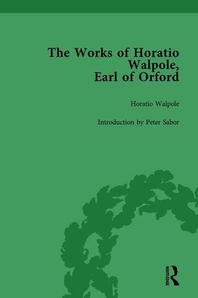 The Works of Horatio Walpole, Earl of Orford Vol 1: 1st Edition (Hardback) book cover