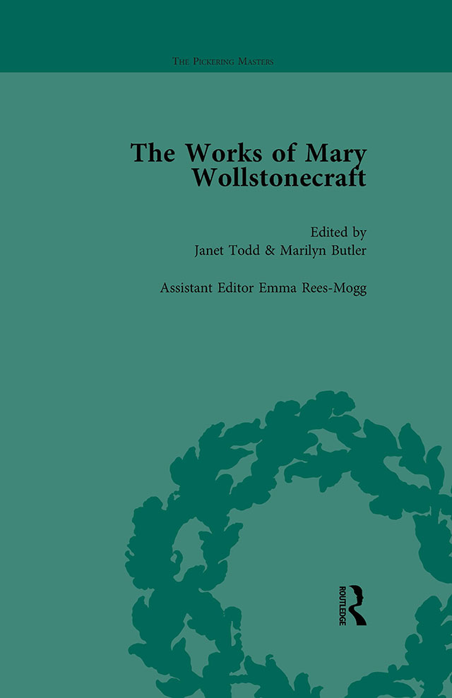 The Works of Mary Wollstonecraft Vol 1: 1st Edition (Hardback) book cover