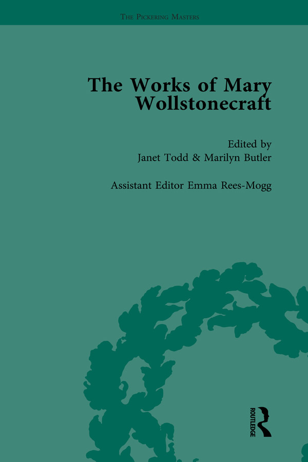 The Works of Mary Wollstonecraft Vol 2: 1st Edition (Hardback) book cover