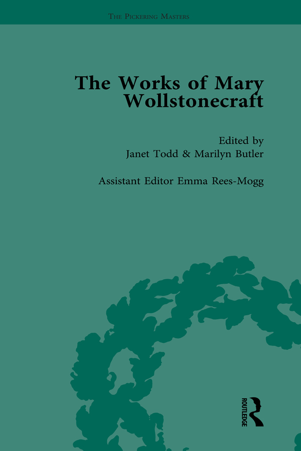 The Works of Mary Wollstonecraft Vol 5: 1st Edition (Hardback) book cover