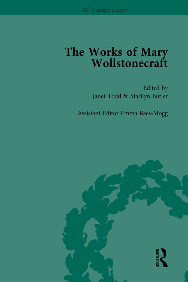 The Works of Mary Wollstonecraft Vol 7: 1st Edition (Hardback) book cover