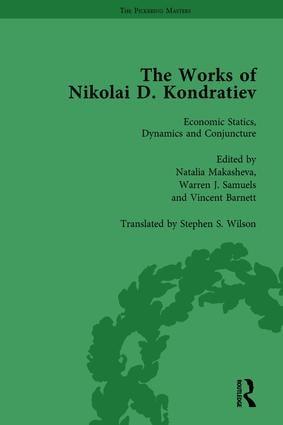 The Works of Nikolai D Kondratiev Vol 1 (Hardback) book cover