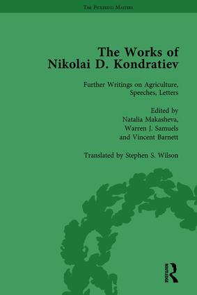 The Works of Nikolai D Kondratiev Vol 4: 1st Edition (Hardback) book cover