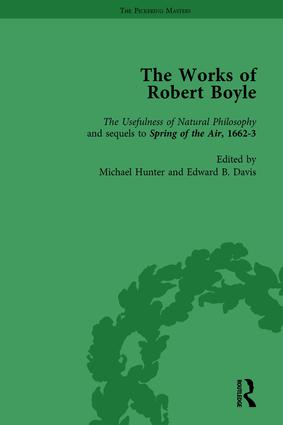 The Works of Robert Boyle, Part I Vol 3: 1st Edition (Hardback) book cover