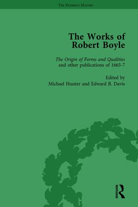 The Works of Robert Boyle, Part I Vol 5: 1st Edition (Hardback) book cover