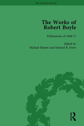 The Works of Robert Boyle, Part I Vol 6: 1st Edition (Hardback) book cover