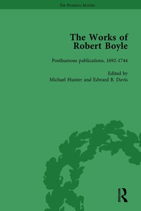 The Works of Robert Boyle, Part II Vol 5: 1st Edition (Hardback) book cover