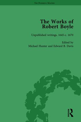 The Works of Robert Boyle, Part II Vol 6: 1st Edition (Hardback) book cover