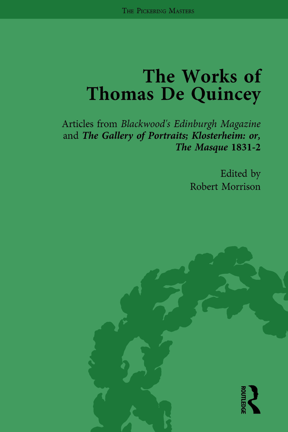 The Works of Thomas De Quincey, Part II vol 8: 1st Edition (Hardback) book cover
