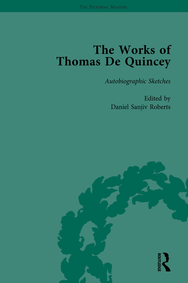 The Works of Thomas De Quincey, Part III vol 19: 1st Edition (Hardback) book cover