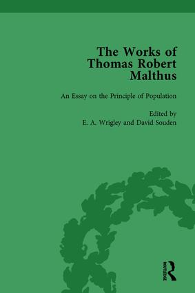 The Works of Thomas Robert Malthus Vol 1: 1st Edition (Hardback) book cover
