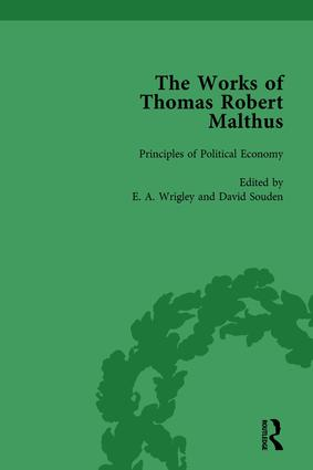 The Works of Thomas Robert Malthus Vol 6: 1st Edition (Hardback) book cover