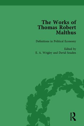 The Works of Thomas Robert Malthus Vol 8: 1st Edition (Hardback) book cover