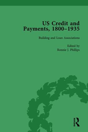 US Credit and Payments, 1800–1935, Part I Vol 1: 1st Edition (Hardback) book cover