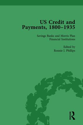 US Credit and Payments, 1800–1935, Part I Vol 3 (Hardback) book cover