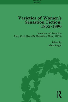 Varieties of Women's Sensation Fiction, 1855-1890 Vol 5: 1st Edition (Hardback) book cover