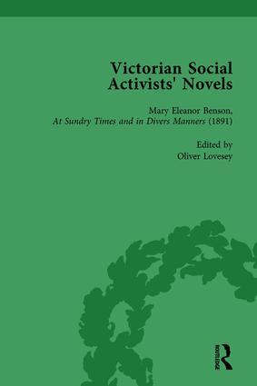 Victorian Social Activists' Novels Vol 3: 1st Edition (Hardback) book cover