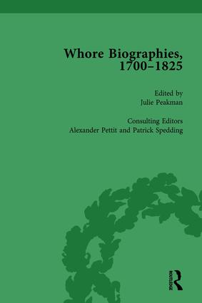 Whore Biographies, 1700-1825, Part I Vol 1: 1st Edition (Hardback) book cover