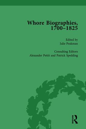 Whore Biographies, 1700-1825, Part I Vol 2: 1st Edition (Hardback) book cover