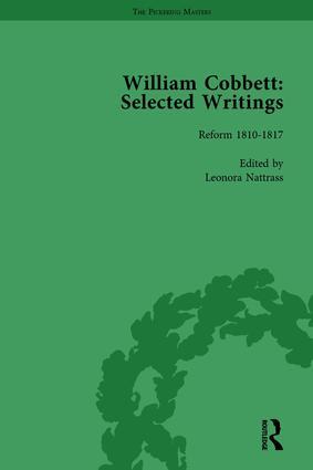 William Cobbett: Selected Writings Vol 3: 1st Edition (Hardback) book cover