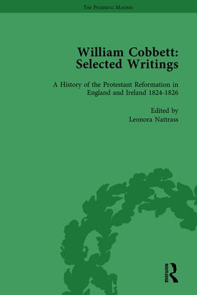 William Cobbett: Selected Writings Vol 5: 1st Edition (Hardback) book cover