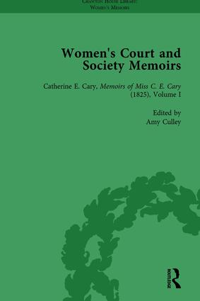 Women's Court and Society Memoirs, Part I Vol 3: 1st Edition (Hardback) book cover