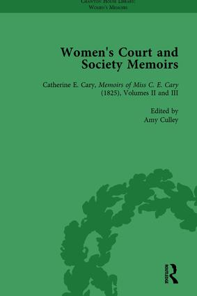 Women's Court and Society Memoirs, Part I Vol 4: 1st Edition (Hardback) book cover