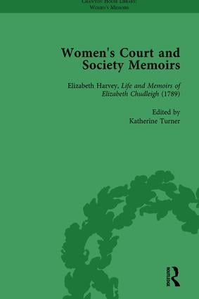 Women's Court and Society Memoirs, Part II vol 5: 1st Edition (Hardback) book cover
