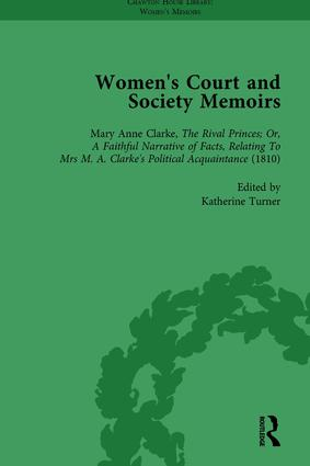 Women's Court and Society Memoirs, Part II vol 6: 1st Edition (Hardback) book cover