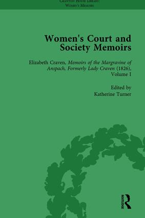 Women's Court and Society Memoirs, Part II vol 8: 1st Edition (Hardback) book cover