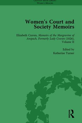 Women's Court and Society Memoirs, Part II vol 9: 1st Edition (Hardback) book cover
