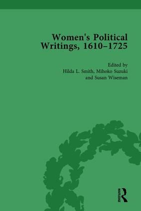 Women's Political Writings, 1610-1725 Vol 1: 1st Edition (Hardback) book cover