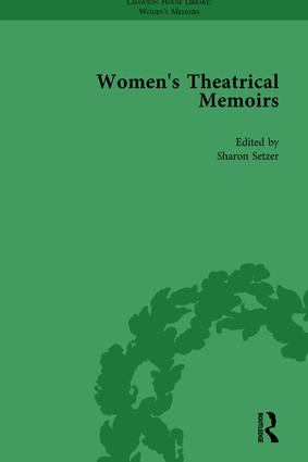 Women's Theatrical Memoirs, Part I Vol 3: 1st Edition (Hardback) book cover