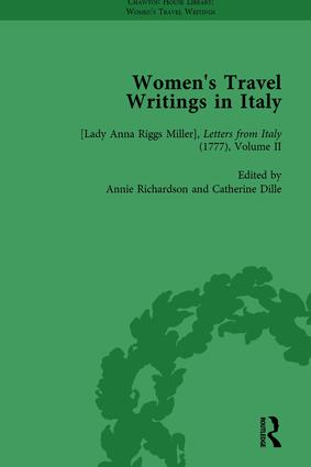 Women's Travel Writings in Italy, Part I Vol 2: 1st Edition (Hardback) book cover
