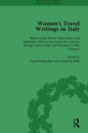 Women's Travel Writings in Italy, Part I Vol 3: 1st Edition (Hardback) book cover