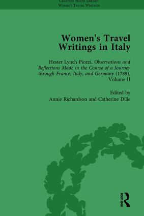 Women's Travel Writings in Italy, Part I Vol 4: 1st Edition (Hardback) book cover