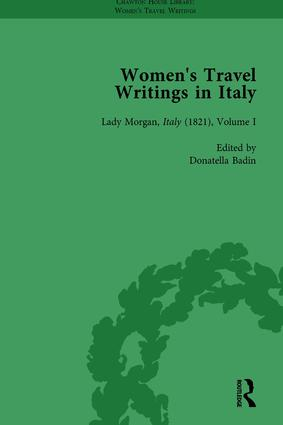 Women's Travel Writings in Italy, Part II vol 6: 1st Edition (Hardback) book cover