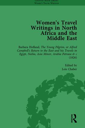 Women's Travel Writings in North Africa and the Middle East, Part I Vol 2: 1st Edition (Hardback) book cover