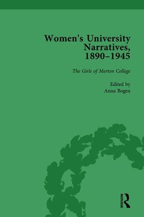 Women's University Narratives, 1890–1945, Part I Vol 2: Key Texts, 1st Edition (Hardback) book cover