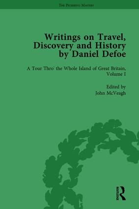 Writings on Travel, Discovery and History by Daniel Defoe, Part I Vol 1: 1st Edition (Hardback) book cover