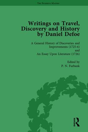 Writings on Travel, Discovery and History by Daniel Defoe, Part I Vol 4: 1st Edition (Hardback) book cover